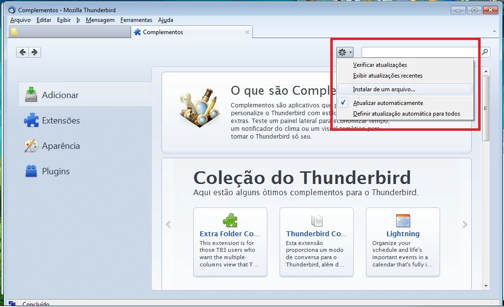 Tutorial: Importando arquivos .pst no Thunderbird